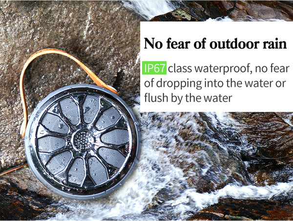 New Waterproof Bluetooth Bass Stereo Outdoor Wireless Subwoofer Flashlight Power Bank Speaker