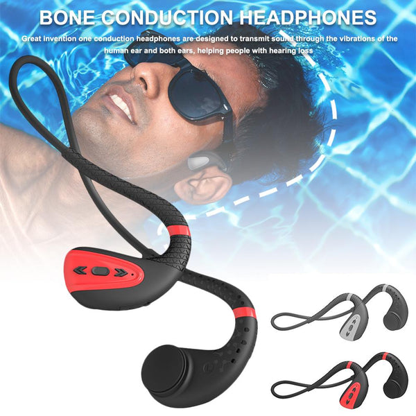 New Bone Conduction Bluetooth 5.0 Headset Stereo IPX 8 Waterproof Sports Swimming Running Hands Free Headphone Earbuds