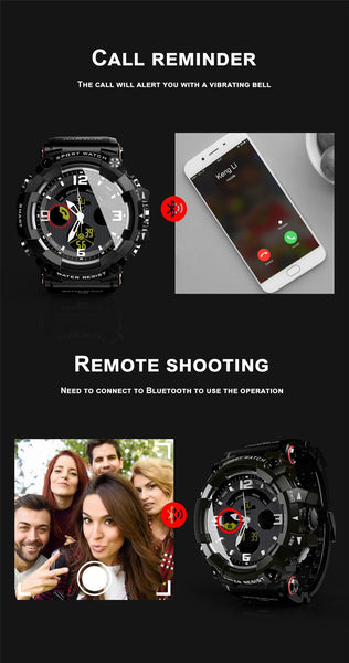 "New 1.58"" Screen Bluetooth 50M Waterproof Sport Clock SmartWatch For iOS Android"