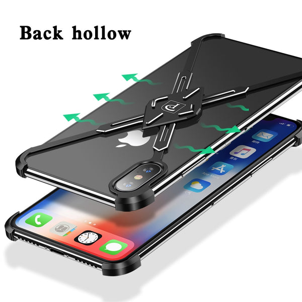 New X-Shape Saber Design Metal Shockproof Shell Bumper Case For iPhone XS MAX