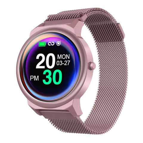 New 1.3 Inch Full Round Touch Screen Heart Rate Monitor IP67 Waterproof Smartwatch