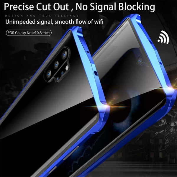 New Magneti Full Front+Back 9H Glass Tempered Film Metal Cover Case For Samsung Galaxy Note 10 Plus Pro