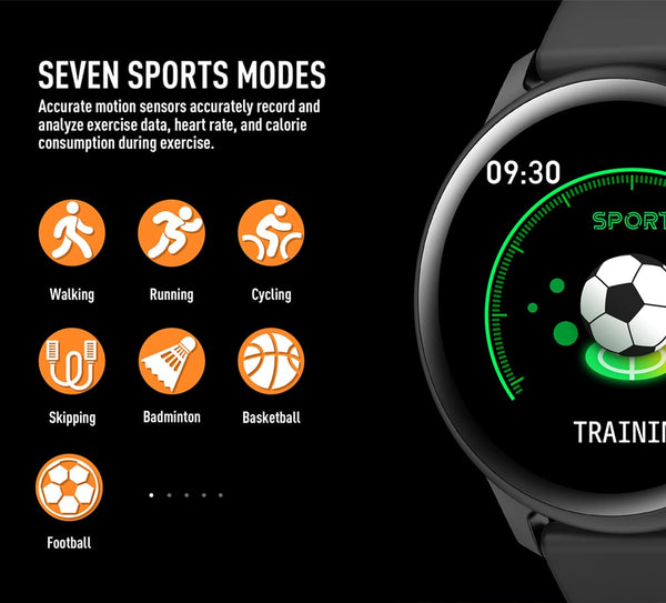 New IP67 Waterproof Multiple Sport Mode Heart Rate Fitness Tracker Weather Forecast Bluetooth Smartwatch