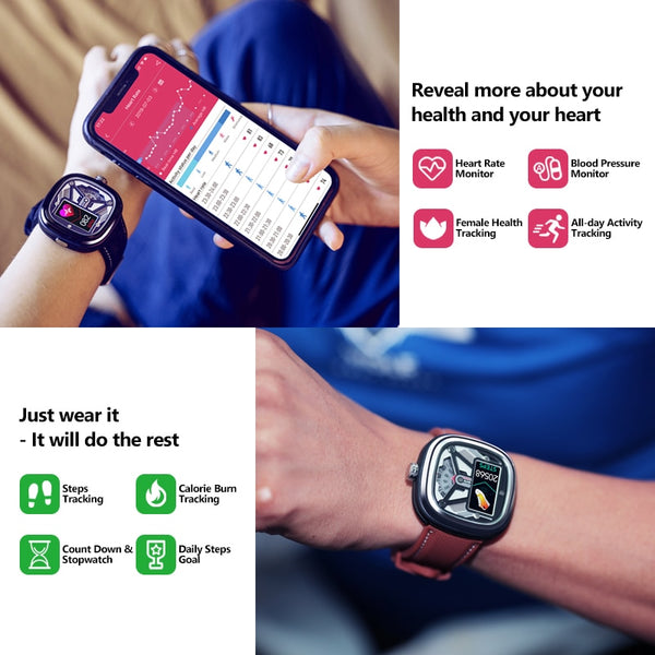 New Heart Rate Fitness Tracker 50M Waterproof Sleep Monitor Smartwatch For Android iPhones
