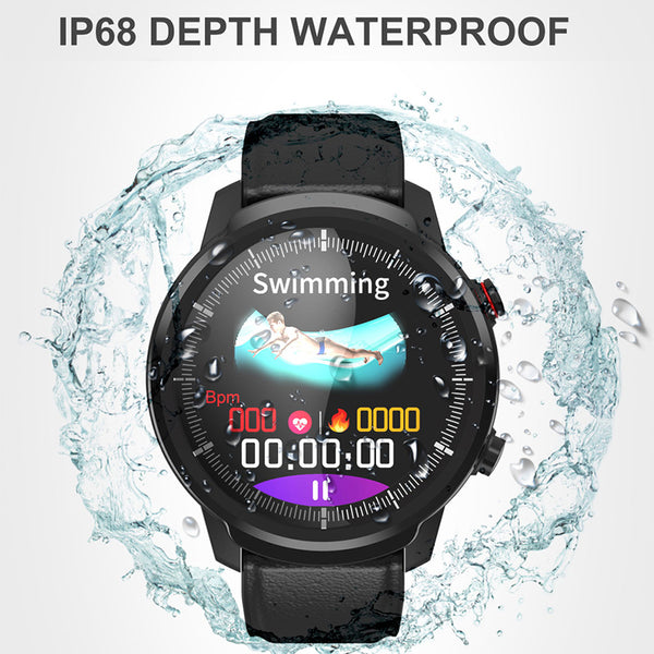 New IP68 Waterproof Heart Rate Pedometer Fitness Tracker Smartwatch For iPhone Androids