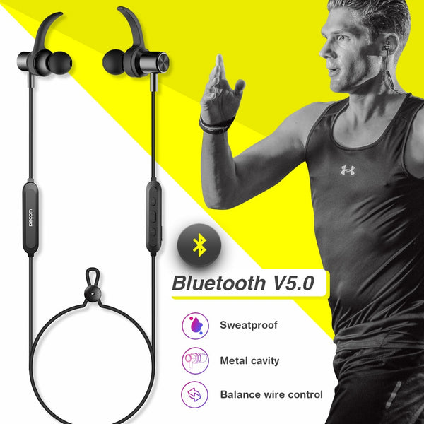 New Bluetooth 5.0 Stereo Sports Magnetic Earbuds Earphone Headset With Built-In Mic For iPhone Samsung Xiaomi