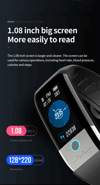 New Heart Rate Monitor Fitness Tracker IP67 Waterproof Smartwatch For iPhone Samsung Xiaomi