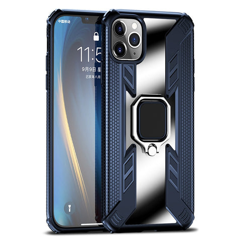 New Magnetic Ring Holder Shockproof Armor Clear Cover Case For iPhone 11 Pro Max X XS XR Series