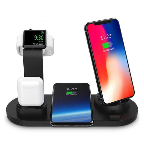 New 10W Qi Wireless Fast Charging Dock Station For Compatible iPhones Apple Watch Airpods
