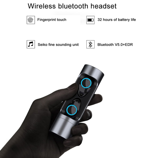 New  Bluetooth 5.0 Touch Control TWS Mini Wireless Earphones Sport Headset With Mic IPX7 Waterproof Earbuds