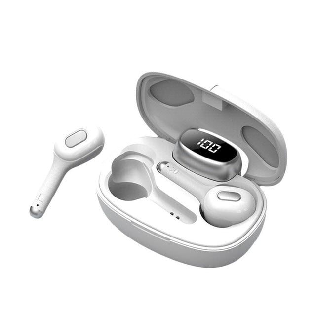New TWS True Wireless Earphones Headset With Microphone For iPhone Samsung Xiaomi