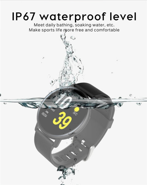 New IP67 Waterproof Heart Rate Monitor Fitness Tracker Watch Music Control Pedometer Smartwatch For iOS Android Gifts