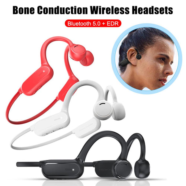 New Bluetooth Bone Conduction Headphones With Mic In-Ear Headset For Samsung iPhone Xiaomi