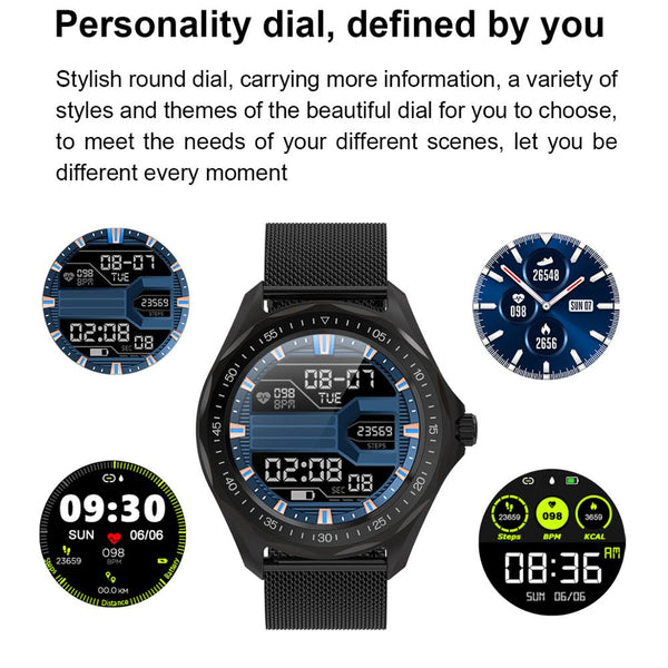 New IP68 Waterproof Heart Rate Monitor Blood Pressure Fitness Tracker GPS Smartwatch