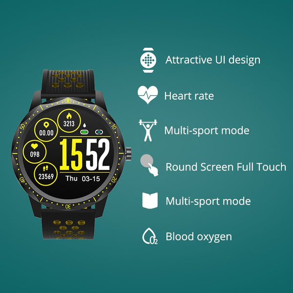 New IP68 Waterproof Heart Rate Monitor Bluetooth Sport Smartwatch For iPhone Samsung Xiaomi