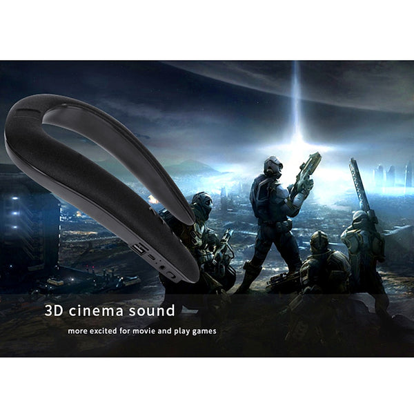 New Portable Bluetooth Neckband Dual 3D Stereo Sound Speakers For iPhone Androids