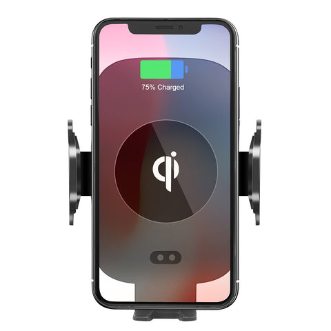 New Fast Wireless Phone Mount Holder Air Vent Phone Holder Qi Charger For iPhones