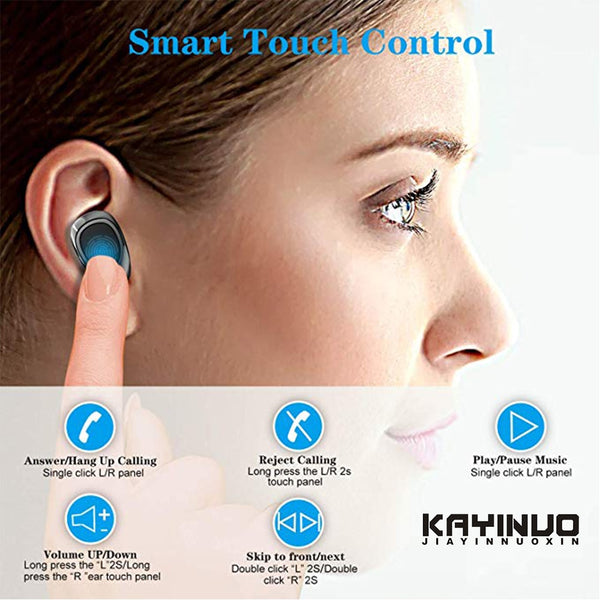 New 9D Surround Sound TWS Bluetooth 5.0 Power Bank Wireless Headset Earbuds Headphones For iPhone Samsung Xiaomi