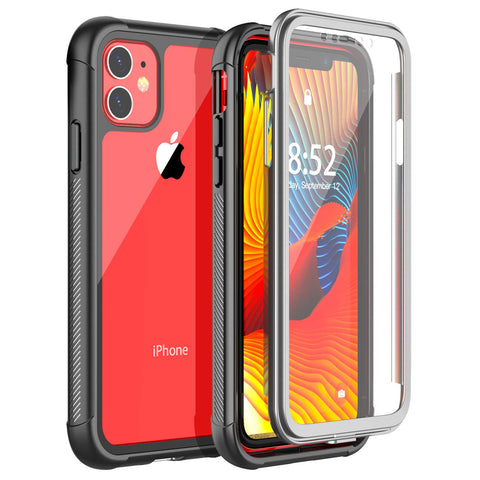 New 360 Degrees Protection Full-Body Rugged Clear Bumper For iPhone 11 Pro Max X XR XS Series