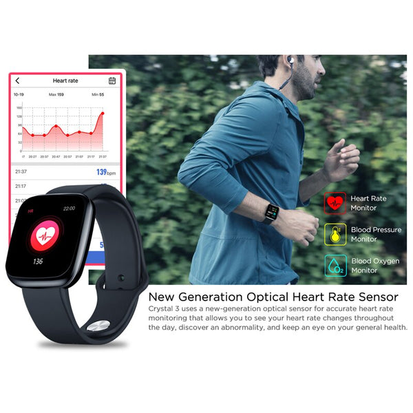 New IP67 Waterproof Heart Rate Long Battery Life IPS Color Screen Smart Watch For Android IOS