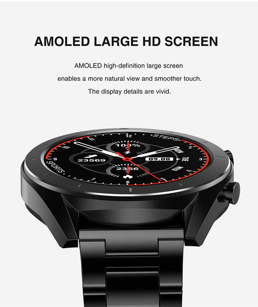New IP68 Waterproof Round HD Screen Fitness Tracker Digital Wrist Smartwatch For iPhone Samsung Xiaomi