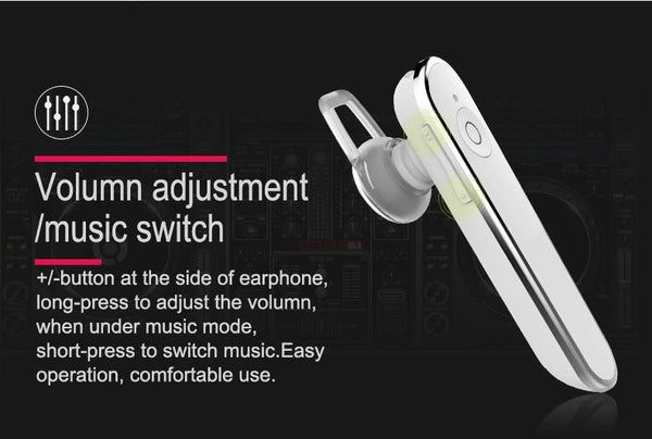 New Deluxe Handsfree Wireless Stereo Bluetooth 4.1 Traveler Earphone Headset With Mic