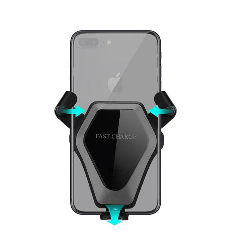 New Qi Wireless Charging Air Vent Mount Holder Stand Fast Charger For iPhone Samsung Smart Phones