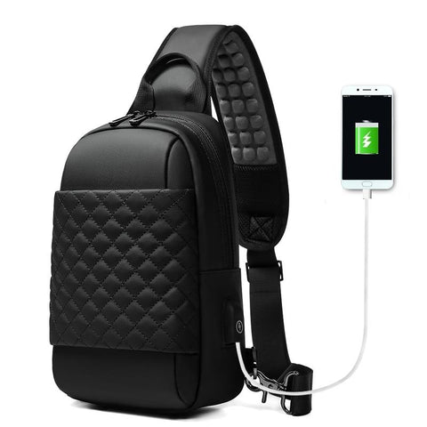 "New Casual Messenger Crossbody Shoulder USB Charging Chest Bag For 9.7"" iPad & Tablets"