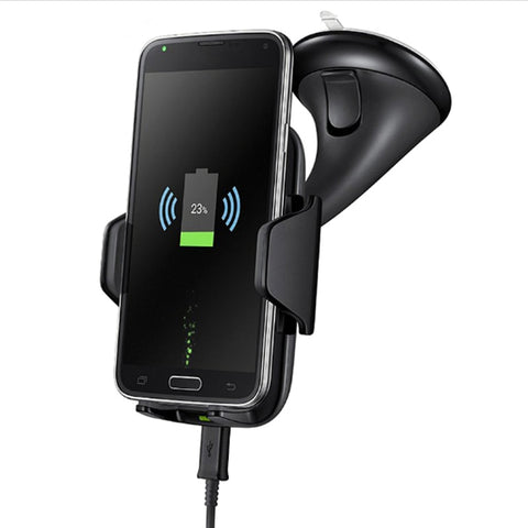 New Multifuntional Qi Wireless Fast Charging Car Mount Holder Charger For Compatible iPhones Samsung Smart Phones