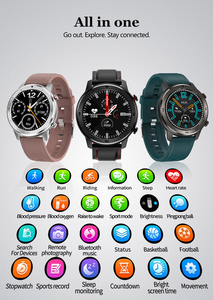 New Heart Rate Monitor Fitness Tracker Smart Watch Sport Digital Smartwatch For iPhone Samsung Xiaomi