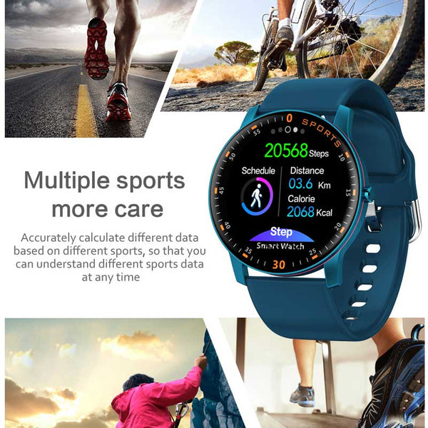New Full Touch Screen Heart Rate Fitness Tracker  Waterproof Sport Smart Watch