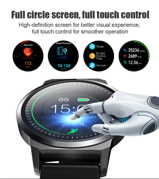 New Fitness Heart Rate Tracker Detection Water-Resistant Digital Wrist Smartwatch For iPhone Android Samsung