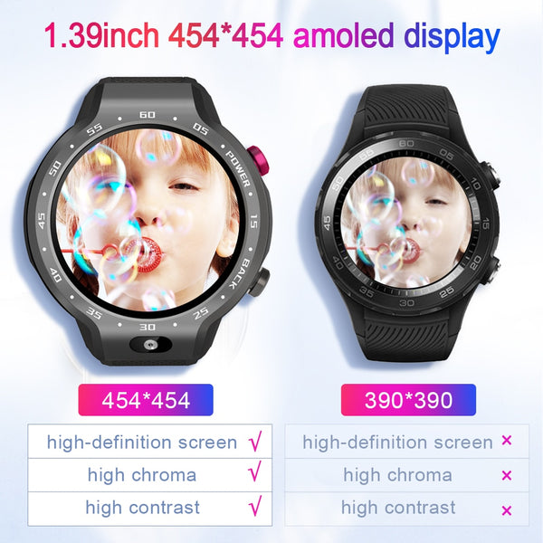 New Android 7.1 5MP 4G WIFI Smart Watch Heart Rate Fitness Tracker For iPhone Android Xiaomi