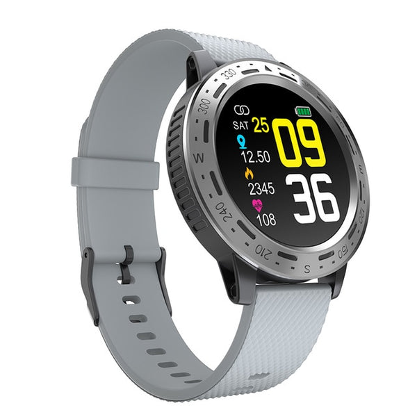 New IP67 Waterproof 1.3'' Full Touch Screen Heart Rate Fitness Tracker Sport Smartwatch