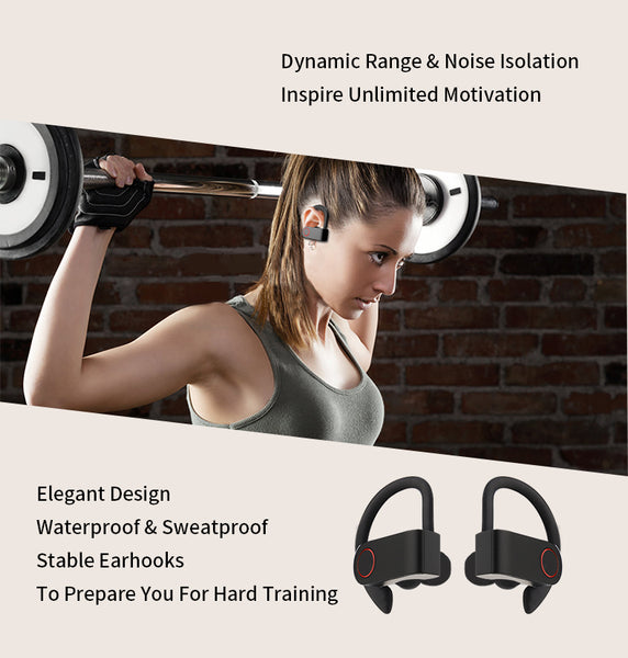 New Wireless Bluetooth Gaming Sports Ear Hook Earbuds With Mic For iPhone Androids Samsung