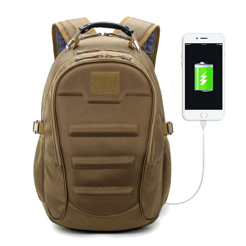 New Tactical Muti-Functional External USB Charging Computer Laptop Bags Outdoor Backpack