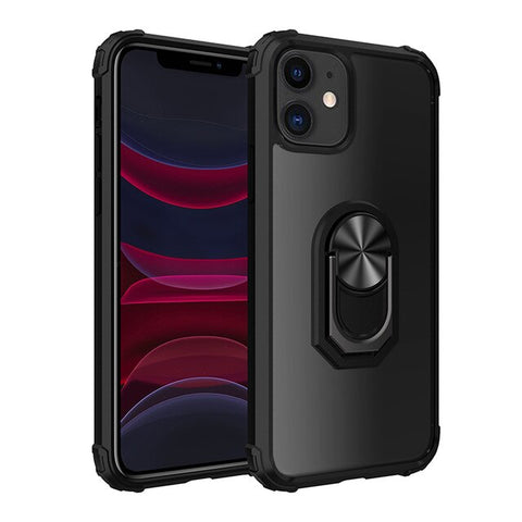 New PC+TPU Ring Magnetic Holder Anti-Fall Armor Case For iPhone 11 Series