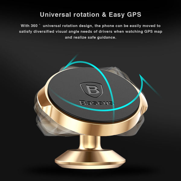 New Heavy Duty 360 Degree Universal Magnetic Car Mount Phone Holder for Mobile Phones