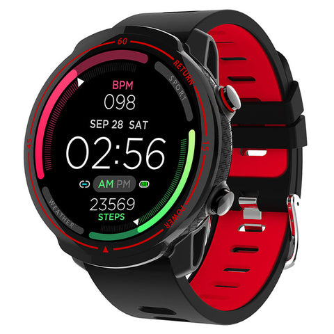 New Full Round Screen IP68 Waterproof Band Fitness Tracker Heart Rate Monitor Smartwatch