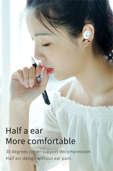 New Wireless Bluetooth 5.0 Noise Reduction Earphones Sports Headset Handsfree Earbuds