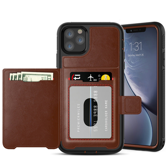 New Luxury Magnetic Flip Wallet Credit Card Holder Case Bumper Cover For iPhone 11 Pro XS Max Series