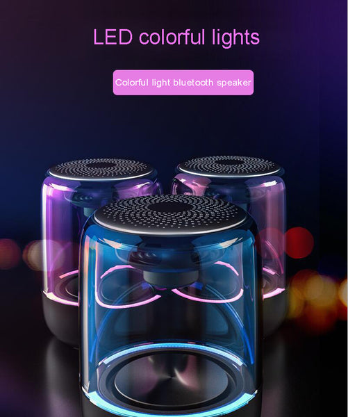 New Powerful Bluetooth Mini Speaker Portable Stereo HIFI Soundbox With LED Light Microphone
