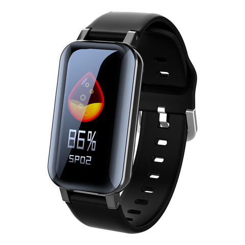 New 2-In-1  Heart Rate Fitness Tracker Smartwatch With Bluetooth Earphone For iPhone Android