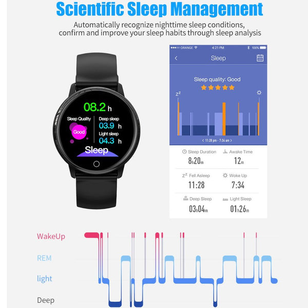 New Women's Smart Watch Band With Heart rate Monitor Sleep Blood Pressure Pedometer Fitness Tracker
