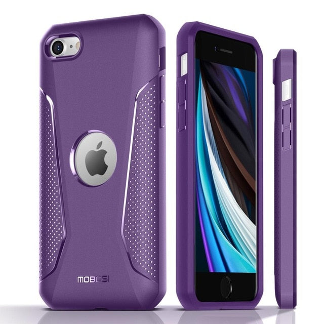 New Anti Slip Slim Lightweight Shock-Resistant Hybrid Matte Soft Phone Case For iPhone SE 2020