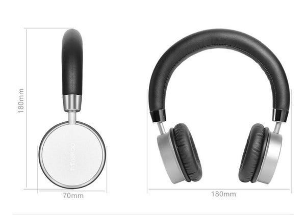 New Cushion-Fitted Wireless Bluetooth Remix Stereo Headphone for iPhones Androids Windows