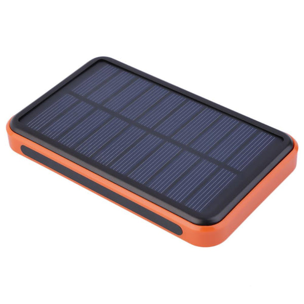 New 12000 mAh Waterproof Portable Solar Power Bank Dual USB Solar Charger