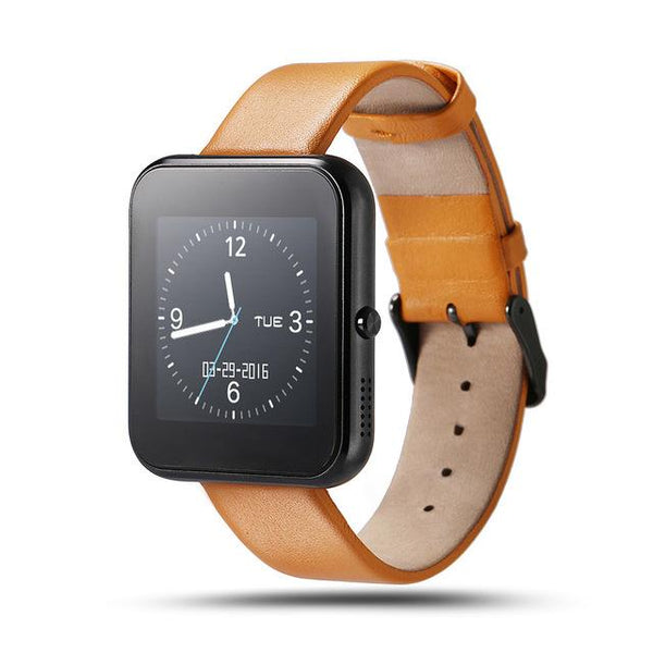 New Bluetooth Smart Watch with Leather & Silicone Band for IOS Android Smartphone
