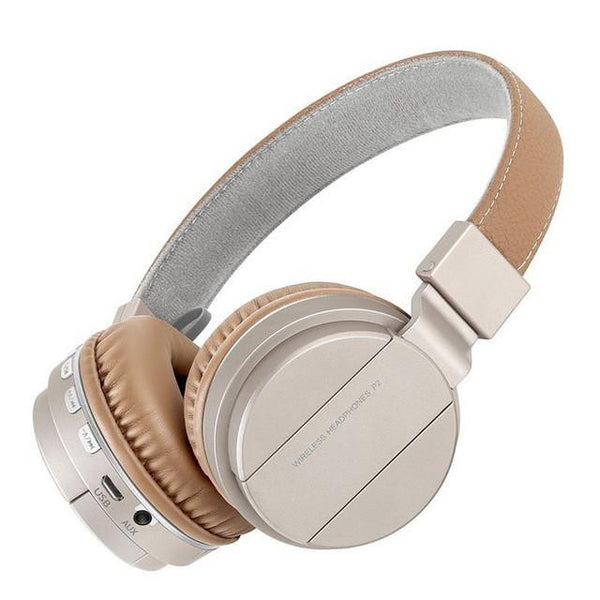 New Studio Headband Over-Ear Wireless Bluetooth Headphones with MIC Headset for Compatible Devices