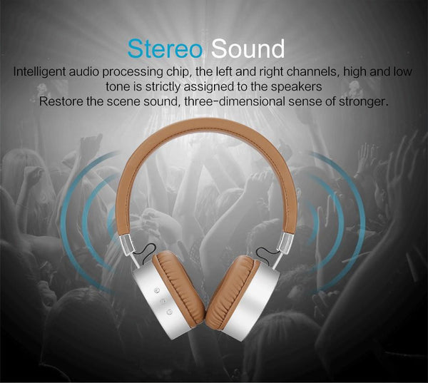 New Deluxe Cushion-Fitted Bluetooth HiFi Headset with Stereo Heavy Bass and Microphone